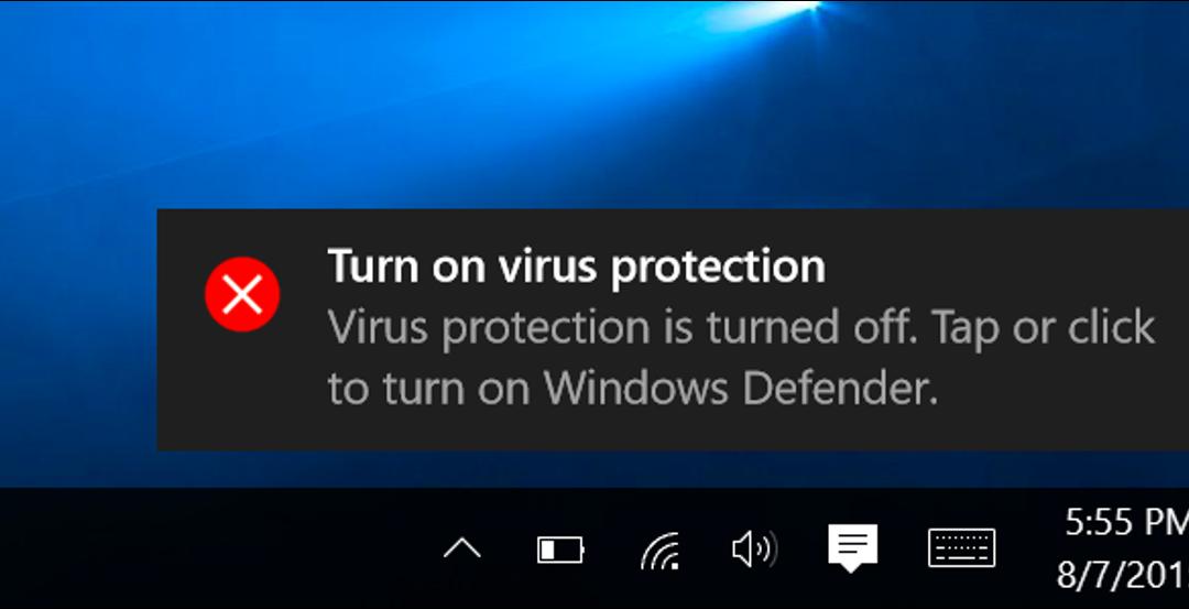 ویندوز دیفندر Windows Defender -ویندوز ۱۰